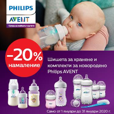 ПРОМОЦИЯ! 20% отстъпка на шишета за хранене Philips AVENT